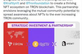 APENFT基金会与Kraftly达成战略合作 NFT专项基金提供支持
